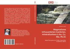 Portada del libro de Magmatisme Infracambrien-Cambrien, minéralisations à Au, Cu, Mo, Pb-Zn