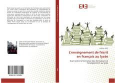 Capa do livro de L'enseignement de l'écrit en français au lycée