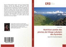 Buchcover von Nutrition azotée des plantes de l'étage subalpin des Pyrénées