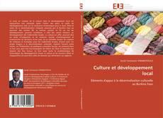 Copertina di Culture et développement local