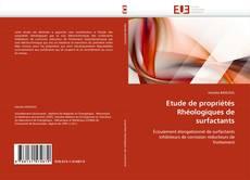 Bookcover of Etude de propriétés Rhéologiques de surfactants