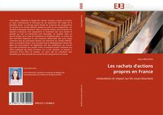 Bookcover of Les rachats d'actions propres en France