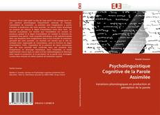 Capa do livro de Psycholinguistique Cognitive de la Parole Assimilée