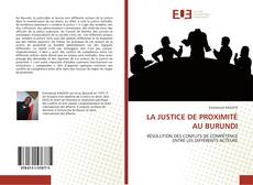 Borítókép a  LA JUSTICE DE PROXIMITÉ AU BURUNDI - hoz