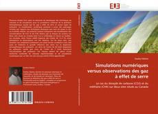 Portada del libro de Simulations numériques versus observations des gaz à effet de serre