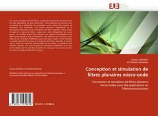 Buchcover von Conception et simulation de filtres planaires micro-onde