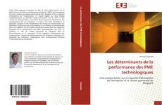 Couverture de Les déterminants de la performance des PME technologiques