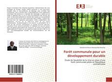 Copertina di Forêt communale pour un développement durable
