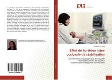 Portada del libro de Effet de l'orthèse inter-occlusale de stabilisation