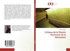 Portada del libro de Critique de la Théorie Humienne de la Motivation