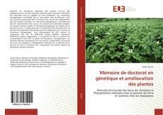 Couverture de Mémoire de doctorat en génétique et amélioration des plantes
