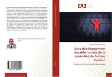 Bookcover of Sous développement durable: la voie de la centralité du facteur humain