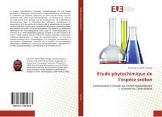 Capa do livro de Etude phytochimique de l'espèce croton