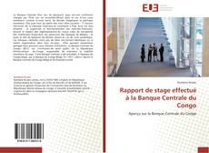 Rapport de stage effectué à la Banque Centrale du Congo kitap kapağı