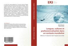Couverture de Langues, cultures et professionnalisation dans un contexte mondialisé