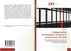 Capa do livro de Catégorisation automatique de textes et cooccurrence de mots