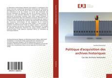 Capa do livro de Politique d'acquisition des archives historiques