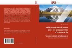 Bookcover of Référentiel d'évaluation pour les programmes d'enseignants