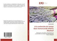 Bookcover of A la recherche du temps dans Samarcande d'Amin Maalouf