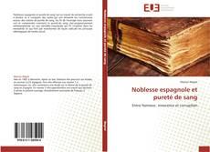 Capa do livro de Noblesse espagnole et pureté de sang