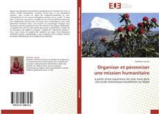 Bookcover of Organiser et pérenniser une mission humanitaire