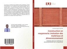 Couverture de Construction en maçonnerie: évolution des matériaux et dimensionnement