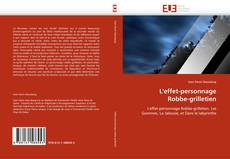Bookcover of L'effet-personnage Robbe-grilletien
