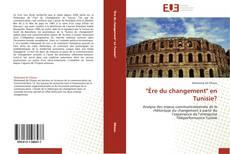 """Portada del libro de """"Ère du changement"""" en Tunisie?"""