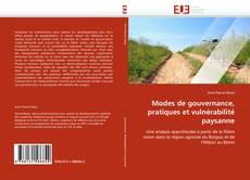 Buchcover von Modes de gouvernance, pratiques et vulnérabilité paysanne