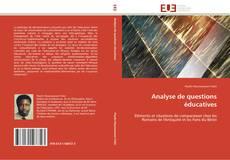 Analyse de questions éducatives kitap kapağı