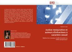 Bookcover of Justice restaurative et auteurs d'infractions à caractère sexuel