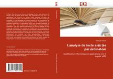 Copertina di L'analyse de texte assistée par ordinateur
