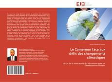 Capa do livro de Le Cameroun face aux défis des changements climatiques