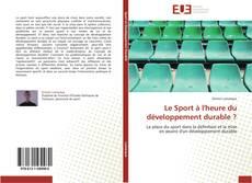 Capa do livro de Le Sport à l'heure du développement durable ?