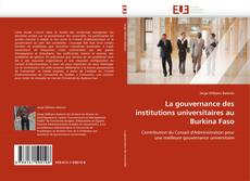 Bookcover of La gouvernance des institutions universitaires au Burkina Faso