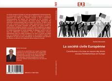 Portada del libro de La société civile Europénne