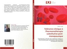 Bookcover of Tolérance clinique à l'hormonothérapie substitutive post-menopausique