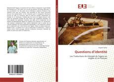 Обложка Questions d'identité