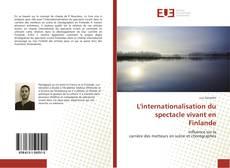Portada del libro de L'internationalisation du spectacle vivant en Finlande
