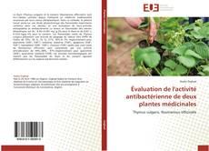Portada del libro de Évaluation de l'activité antibactérienne de deux plantes médicinales