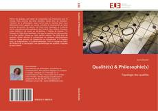 Qualité(s) & Philosophie(s) kitap kapağı