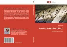 Copertina di Qualité(s) & Philosophie(s)