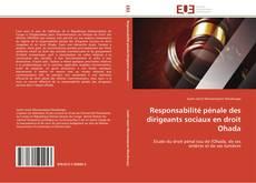 Bookcover of Responsabilité pénale des dirigeants sociaux en droit Ohada
