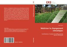 Buchcover von Maîtriser le changement climatique: