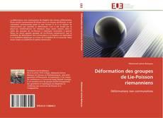 Bookcover of Déformation des groupes de Lie-Poisson riemanniens
