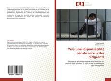 Bookcover of Vers une responsabilité pénale accrue des dirigeants