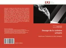 Обложка Dosage de la cotinine urinaire
