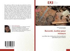 Bookcover of Burundi, Justice pour mineurs