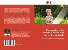 Bookcover of L'interaction entre l'activité humaine et la convection profonde