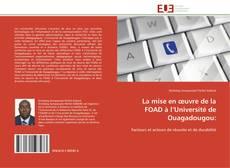 Couverture de La mise en œuvre de la FOAD à l'Université de  Ouagadougou: